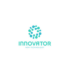 related innovative abstract logo new technology vector image