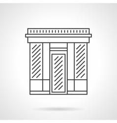 Textile shop facade flat line icon vector image