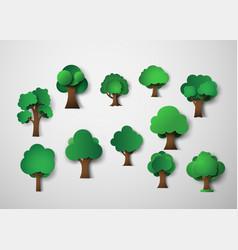 tree design elements vector image vector image