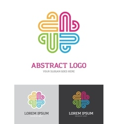 Abstract colorful logo vector image