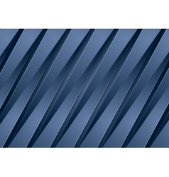 Abstract corporate blue material stripes vector