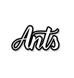 Ants calligraphy template text for your design vector
