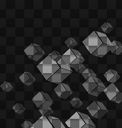 Background abstract cube vector