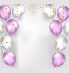 Balloons on a white background realistic 3d vector