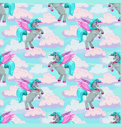 beautiful fairy seamless pattern with cute flying vector image