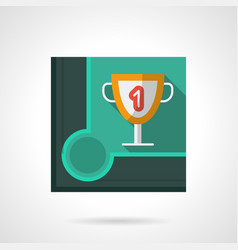 billiard tournament award flat square icon vector image