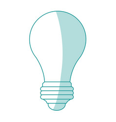 Blue silhouette image light bulb off icon vector