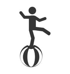 Circus acrobatics show icon vector