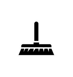 cleaning brush broom flat icon vector image