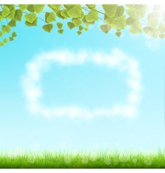 Cloud Frame On Sky Background vector