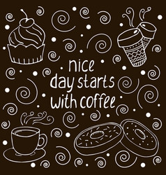 coffee quote vector image