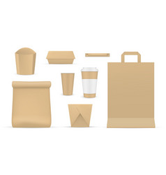 collection realistic card packaging for fast vector image
