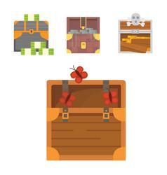 Cute set of diferent chests cartoon vector