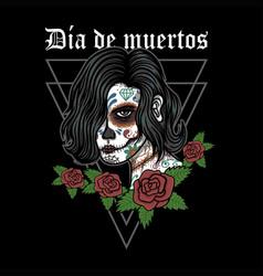 dia de muertos woman vector image