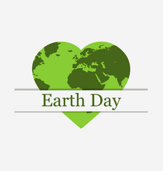 earth day planet earth in the form of a heart vector image