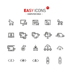 easy icons 49a computer virus vector image