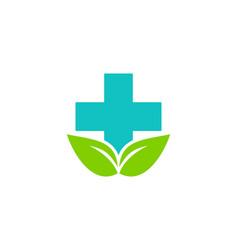 eco medicine logo icon design vector image