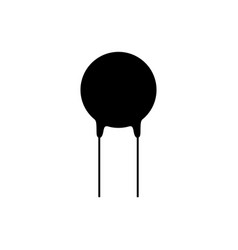 Electronic component varistor icon vector