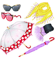 Fashion weather accessories vector