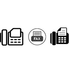Fax icon on white background vector