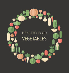 fresh organic vegetable fresh organic vegetable vector image