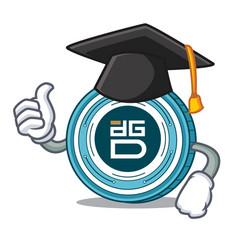 graduation digixdao coin character cartoon vector image