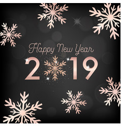 Happy new year card invitation greetings 2019 vector