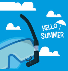 Hello sumer card vector