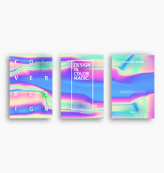 holographic abstract background cover design vector image