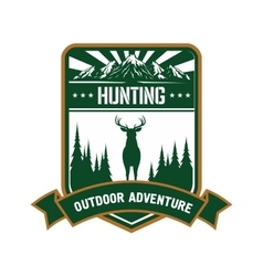 Hunting and adventure icon for sporting design vector