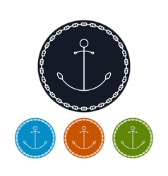 Icon anchor and chain vector