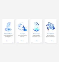Isometric artificial intelligence digital vector