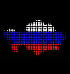 Kazakhstan map in russian colors vector