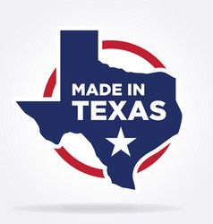 Made in texas logo 02 vector