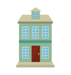 mansion front isolated icon vector image