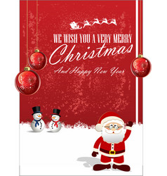merry christmas background 6 vector image