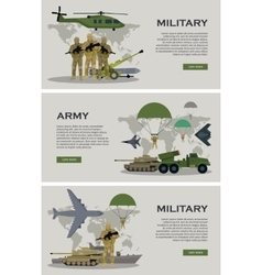 Military Infographic Banner with World Map vector image