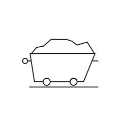 mine trolley icon vector image