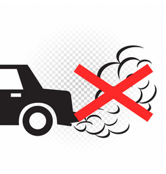 No idling engine off sign symbol vector