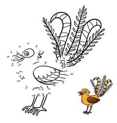 numbers game lyrebird vector image