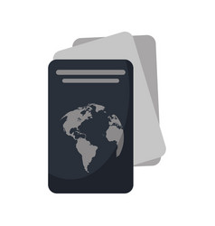 passport document identification icon vector image