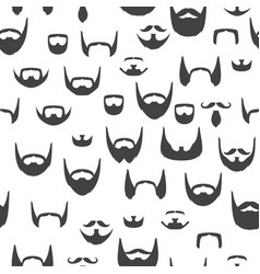 Pattern with beards and mustaches vector