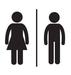 Pictogram man and woman vector