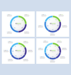 pie chart infographic templates divided 4 5 6 7 vector image