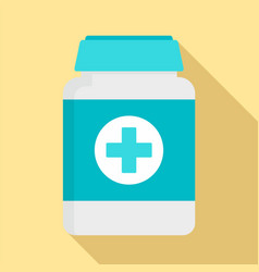 Pills box for pet icon flat style vector