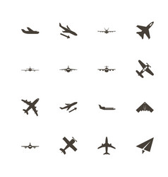 planes - flat icons vector image