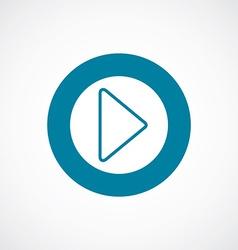 Play icon bold blue circle border vector