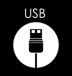 Plug and Usb design vector image