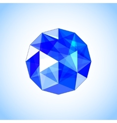 Realistic sapphire shaped Blue gem vector
