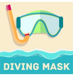 retro flat diving mask concept design vector image